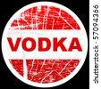 vodka stamp - stock vector