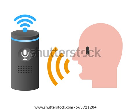 Voice assistance system concept diagram speech stock for Voice assistant italiano