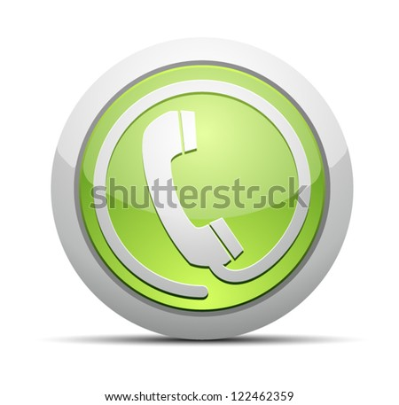 Voice contact button - stock vector