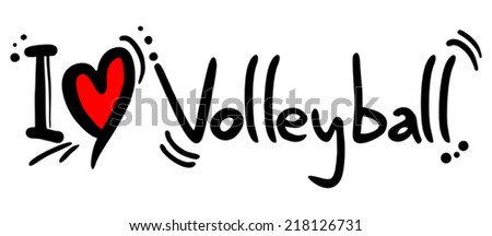 Volleyball love - stock vector