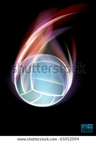 Volleyball symbol, eps10 vector - stock vector