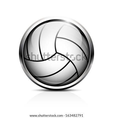 Volleyball vector icon - stock vector
