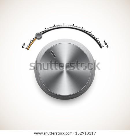 Volume control panel - stock vector