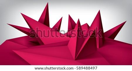 Shape And Form In Design : Volume geometric shape d crystals surface stock vector