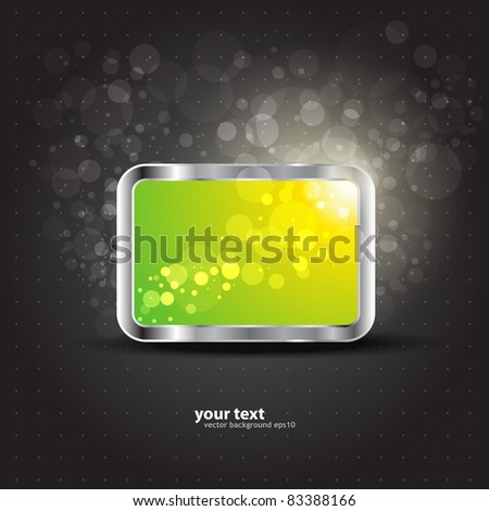 Volume glossy business banner. Vector - stock vector