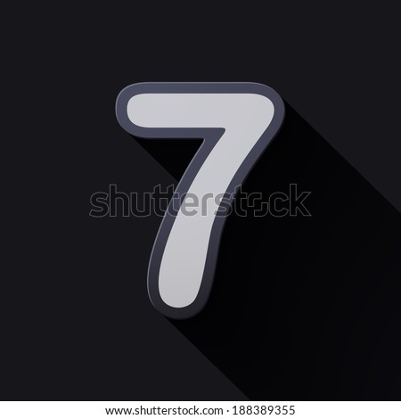 Volume icons number: seven. Colorful modern Style. - stock vector