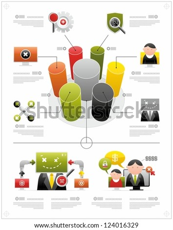 volume infographics - stock vector