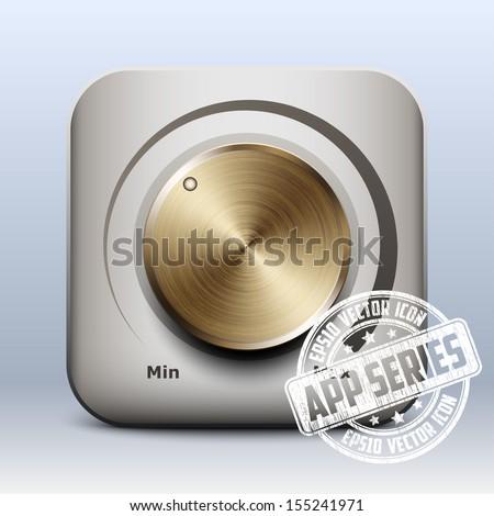 Volume knob icon vector, app series - stock vector