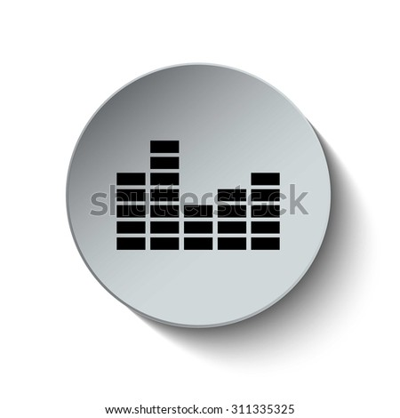 Volume Level icon. Audio icon. Sound icon. Media icon. Illustration. Vector. EPS 10 - stock vector