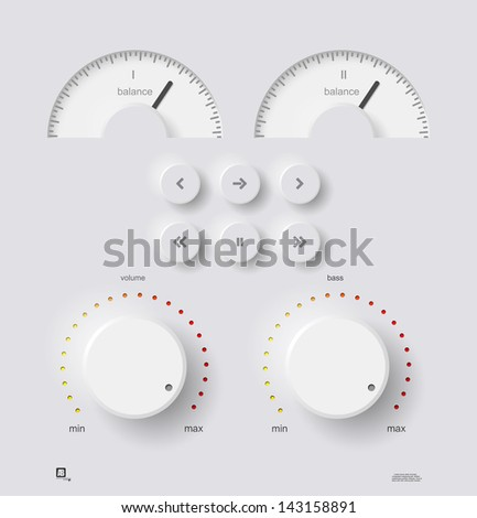 Volume panel, vector - stock vector