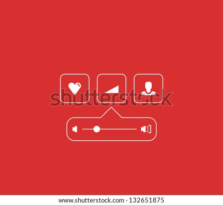 Volume progress bar concept made of lines - stock vector