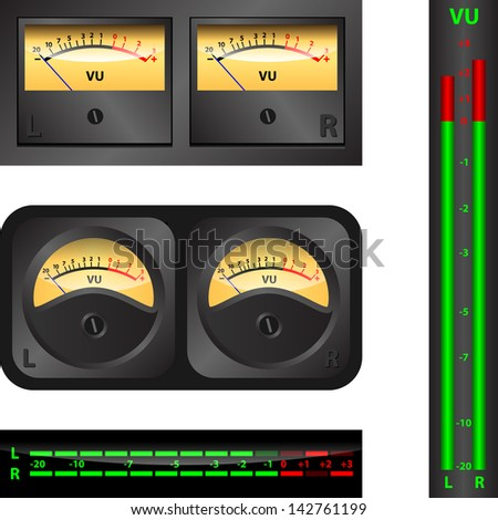 Volume Unit meter - stock vector
