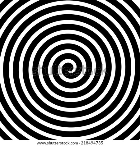 Volute, spiral, concentric lines, circular, rotating background - stock vector