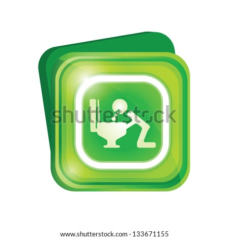 Vomit sign - stock vector