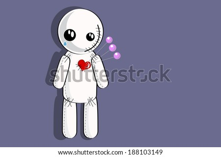 Voodoo doll - stock vector