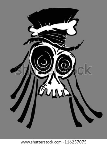 Voodoo Skull - stock vector
