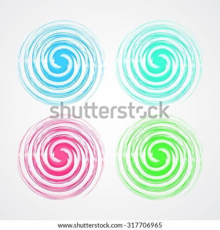 Vortex background vector.