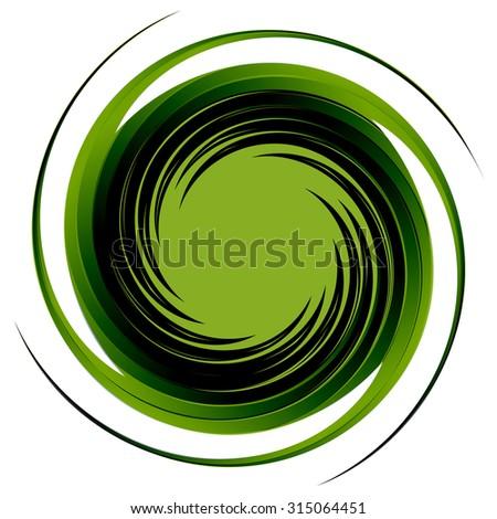 Vortex background vector.Swirl abstract isolate illustration. - stock vector