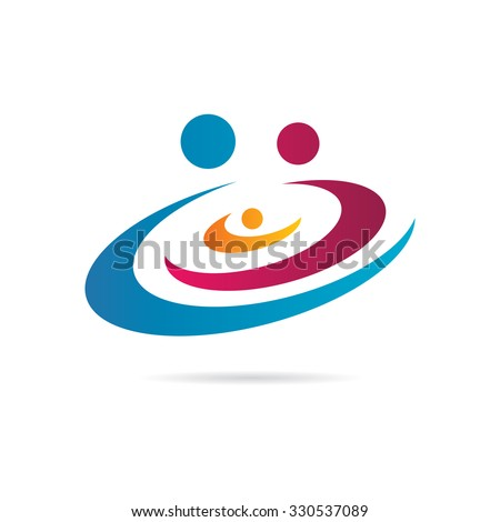 Vortex Family Icon Logo Template