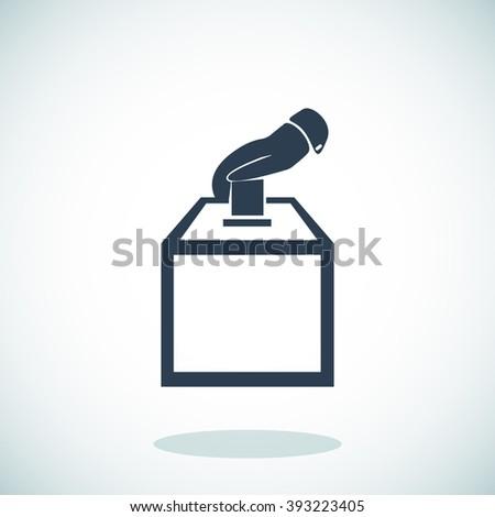 vot ballot icon - stock vector