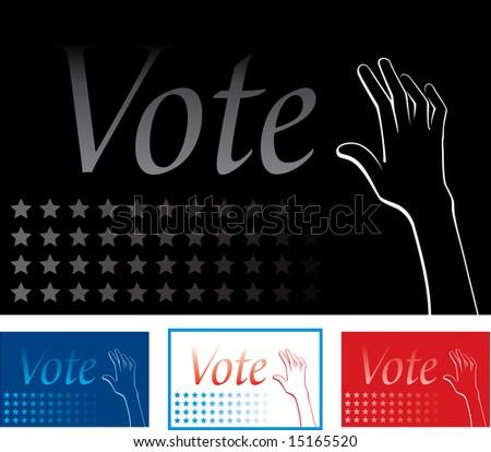 Vote background - stock vector