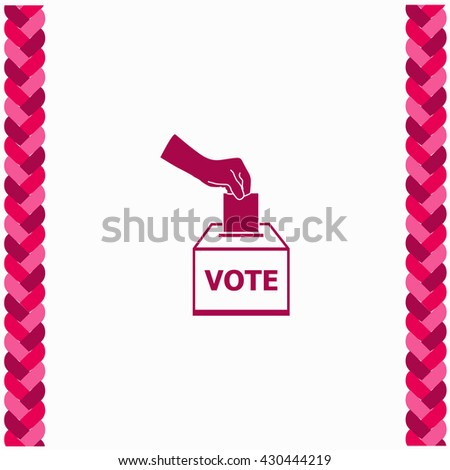 Vote ballot icon Flat Design. Isolated Illustration. - stock vector