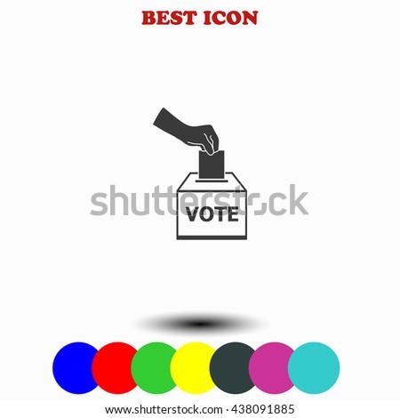 Vote ballot icon. Vote ballot illustration. Vote ballot web. - stock vector
