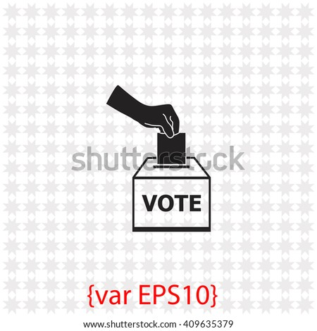 Vote ballot icon. Vote ballot vector. Simple icon isolated on gray background. - stock vector