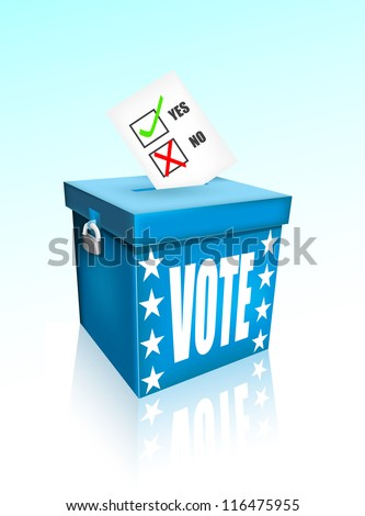 Vote box eps10 - stock vector