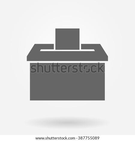 Vote box or ballot box icon - stock vector