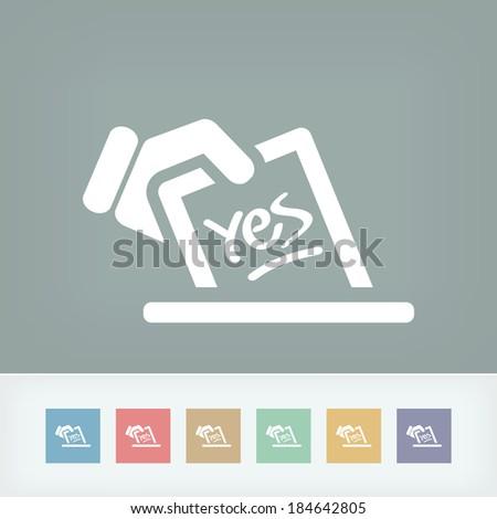 Vote concept icon - stock vector