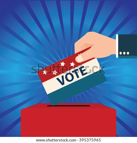 Vote design with Ballot boxes,Voting Election Politic Decision Democracy Concept vector illustration. - stock vector