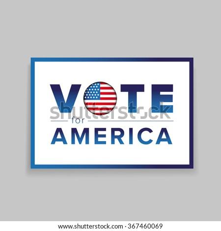 Vote for America - stock vector
