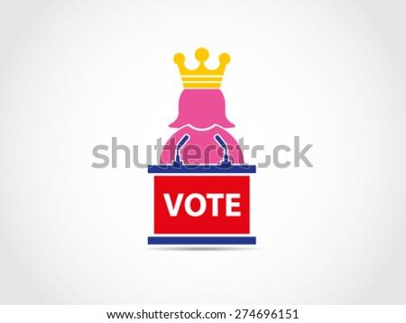 Vote For Queen - stock vector