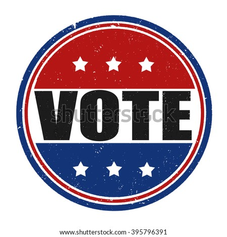 Vote grunge rubber stamp on white background, vector illustration - stock vector