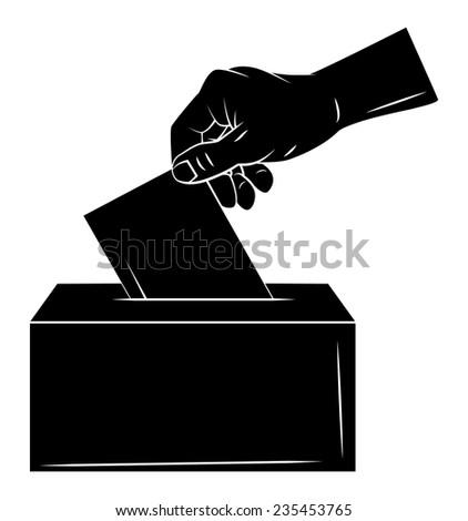 Vote Hand - stock vector