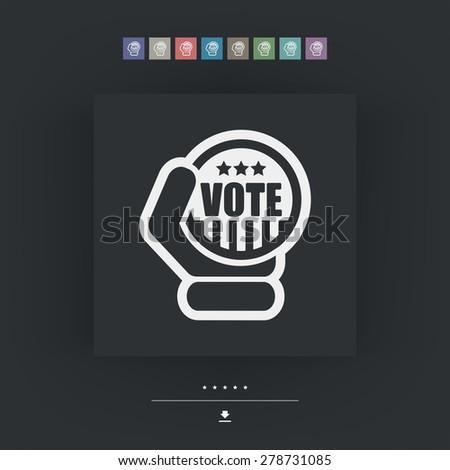 Vote icon - stock vector