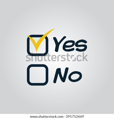 Vote icon, vote sign, yes or no
