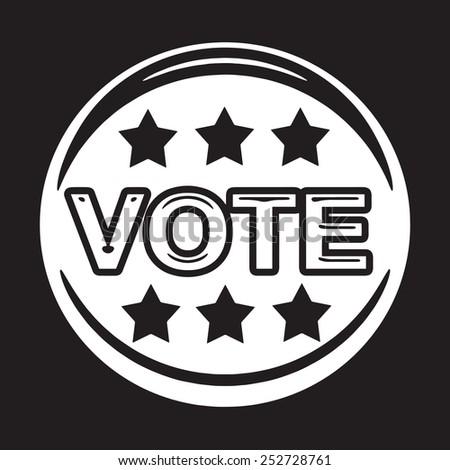 vote icon ,  vote,  vote button - stock vector