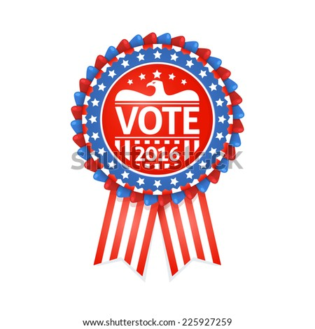 Vote Label for United States presidential election 2016 - stock vector