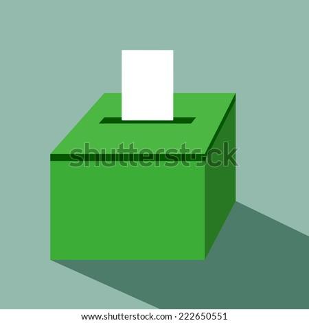 vote label with ballot box vote vector illustration - stock vector