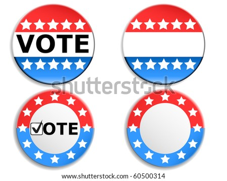 Vote pins - stock vector