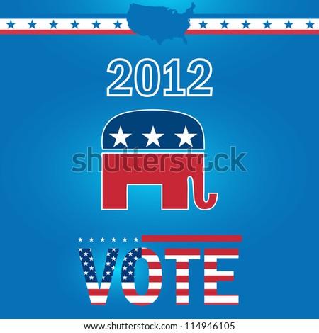 Vote Republican 2012 - stock vector