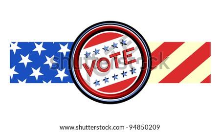 Vote ribbon - stock vector