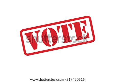 VOTE Rubber Stamp vector over a white background. - stock vector