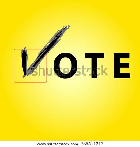 Vote Sign  - stock vector