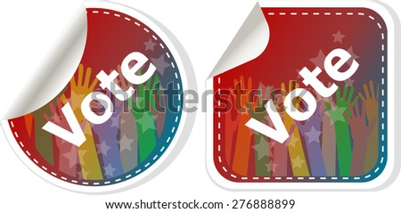 vote sign vector illustration isolated on white background - stock vector