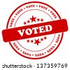 Vote Stamp - stock vector