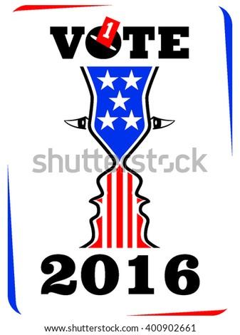 VOTE TO ELECTION VECTOR ICON - stock vector