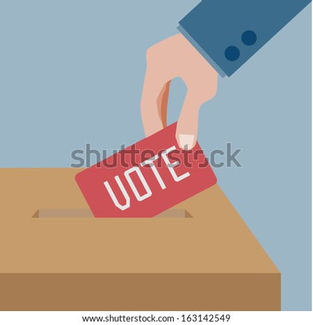 voting - stock vector